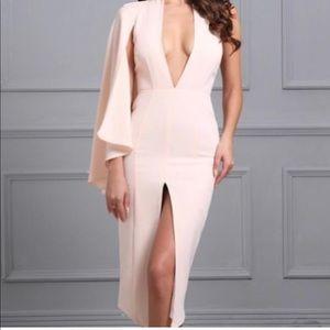 Dresses & Skirts - Peach Cape sleeve dress